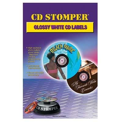 cd stomper 2 up standard with center labels template cd stomper cd dvd compatible gloss labels 15 sheets 30