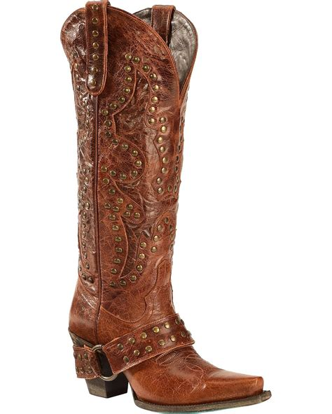 s boot studded rocker harness snip toe