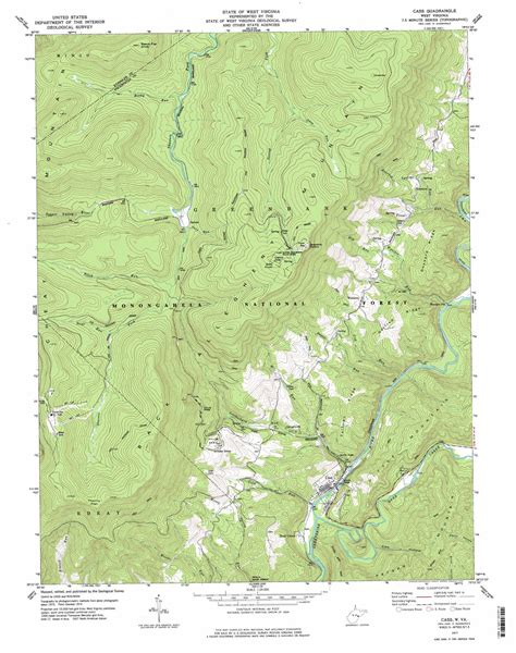 usgs topographic maps cass topographic map wv usgs topo 38079d8