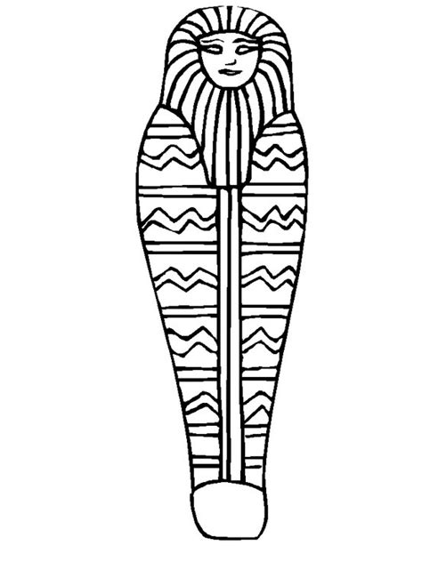 mummy template mummy coloring page coloring book