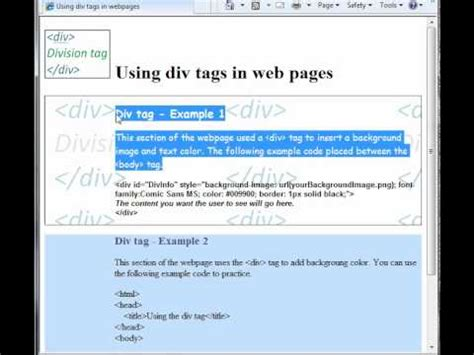 div text color how to use the div tag background color and image text