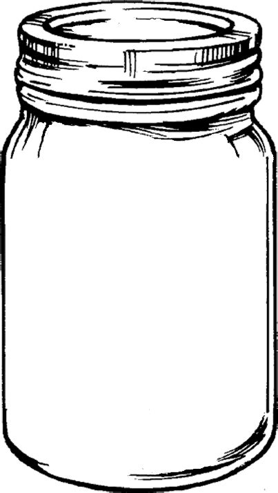 free printable templates for jars printable mason jar outline clipart best