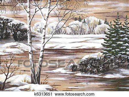 clipart inverno clipart paesaggio inverno k6313651 cerca clipart