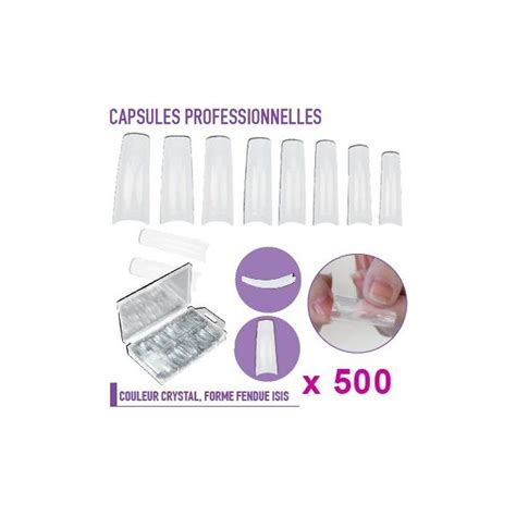 Capsule Ongle by Capsules Faux Ongles Forme Fendue X500 Grossiste