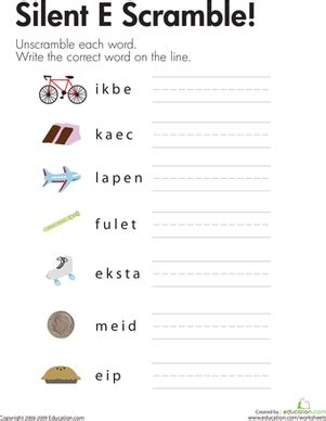 Silent E Worksheets by Silent Quot E Quot Word List Worksheet Education