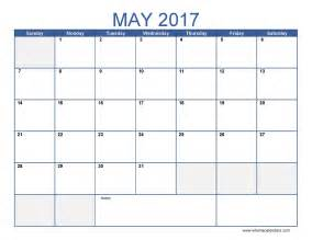 may 2017 calendar template printable monthly calendar