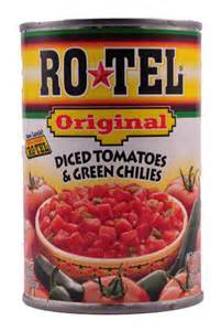 Can Of Rotella With Chilis http://www.homesickamerican.com/ROTEL-Diced ... V8 Juice