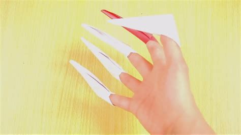 How To Make Origami Finger Claws - how to make origami paper claws 10 steps with pictures