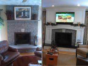 before and after fireplace focalpoint renovations kitchen design layout location
