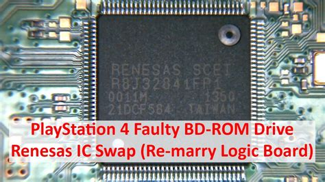 Bd Ps4 Light Playstation 4 Faulty Bd Rom Drive Renesas Ic Re