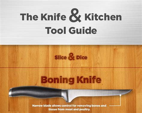 guide to kitchen knives the knife kitchen tool guide infographic
