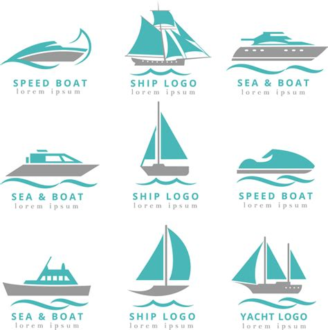 speed boat logo speed boat with ship and yacht logos vector free download