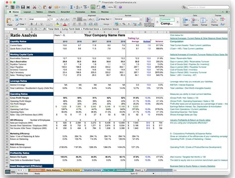 financial ratio analysis template excel business plan financial model template bizplanbuilder