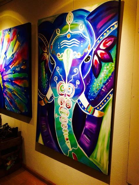 painting ideas 25 unique bohemian painting ideas on elephant