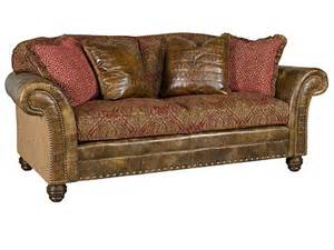 King Hickory Sofas King Hickory Living Room Katherine Leather Fabric Sofa 9700 Lf Hickory Furniture Mart