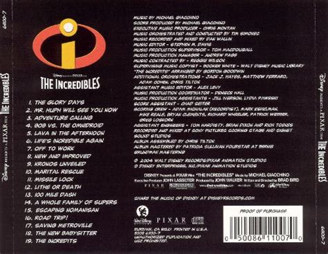 s day credit songs the incredibles michael giacchino songs reviews