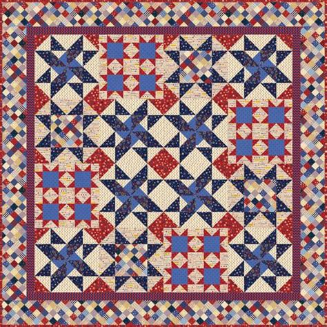 Patriotic Quilt Pattern by Quilt Inspiration Q I Classics Free Pattern Day