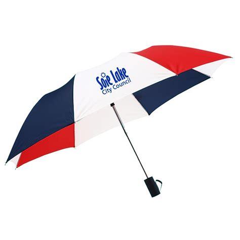 "4imprint.com: 42"" Folding Umbrella with Auto Open   Red"