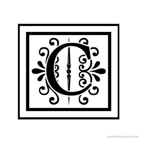 Decorative Letter C by Fancy Letter C Apex Lake Printable Decorative Alphabet