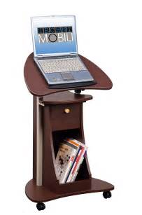 Laptop Desk With Storage Office Portable Laptop Rolling Desk Adjustable Table Cart Computer Mobile Stand Ebay