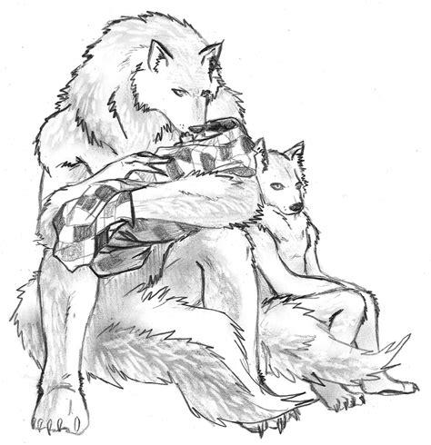 baby werewolf coloring page werewolf family 1 by renaissancelady k on deviantart