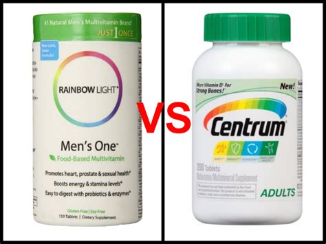 rainbow light s multivitamin rainbow light s one vs centrum multivitamin review