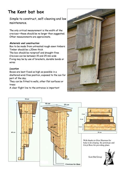 bat house pattern plans the green heart den is planning to make several bat boxes