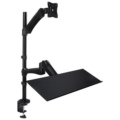 Mount It Sit Stand Desk Mount With Keyboard Mouse Tray Mi Sit Stand Desk Mount
