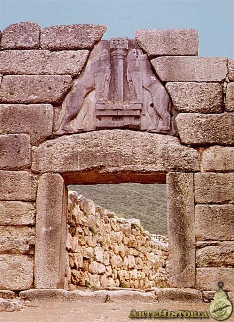 la puerta de los puerta de los leones micenas artehistoria com