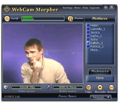 ver imagenes en webcam av webcam morpher 2 0 descargar gratis