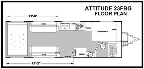 attitude toy hauler floor plans 2014 eclipse attitude pro lite 23fbg travel trailer