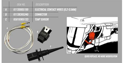 bmw  temp sensor kit  socket plug wires exterior