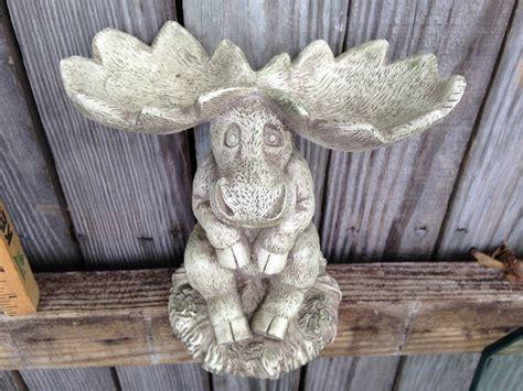 whimsical home decor moose statue moose art whimsical home decor garden art