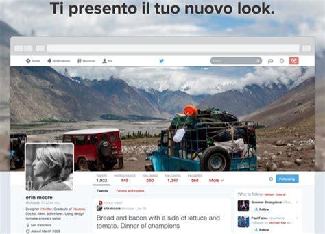 layout su twitter twitter i nuovi profili disponibili per tutti geekissimo