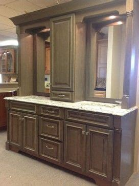 bathroom vanity with center linen cabinet double vanity with linen tower middle search