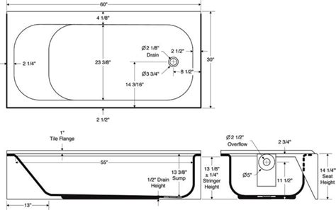 Tub Sizes Standard Bath Tub Dimensions