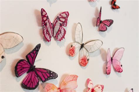butterfly decorations items similar to organza butterfly wall decoration 42