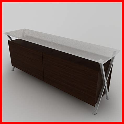 buffet table ls contemporary 3d dining room buffet table model