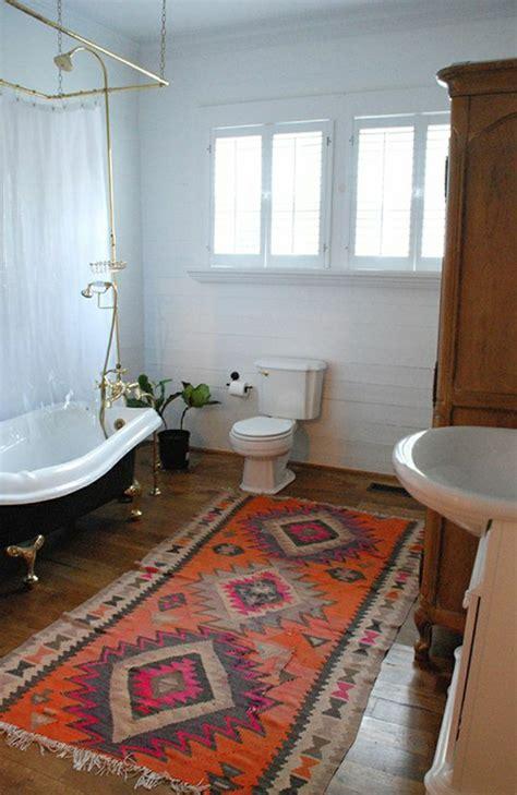 teppich im badezimmer vintage teppiche gestalten ihre wohnung erstaunlich gut um