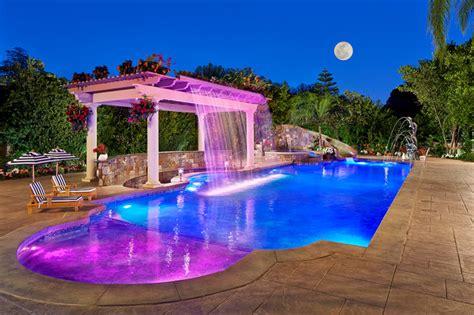 fiber optic pool lighting backyard resort with fiber optic pool lighting