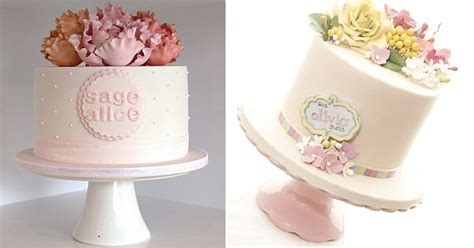 Personalised Cakes with Simple & Pretty Name Plaques   Cake Geek Magazine
