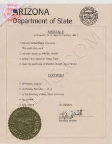 Marriage Records Mexico Arizona Apostille Arizona Apostille Certificate Is A Seal That Will