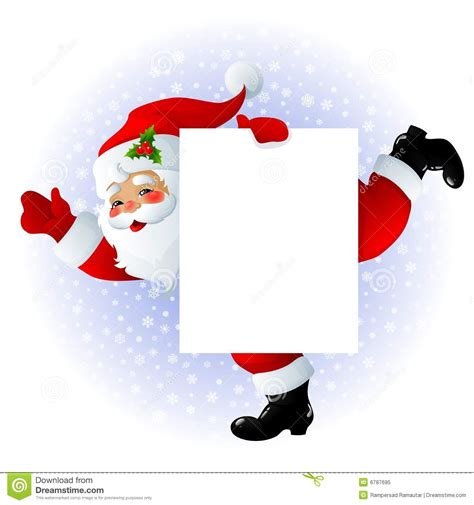 santa claus sign royalty free stock photo image 6787695