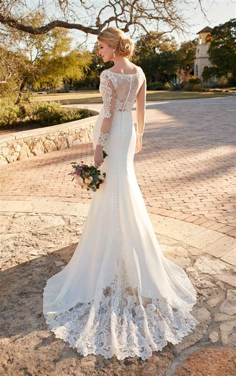 Wedding Dresses Australia by Wedding Dress With Lace Essense Of Australia