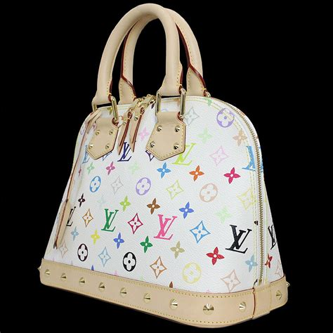 louis vuitton lv murakami monogram canvas white multicolor