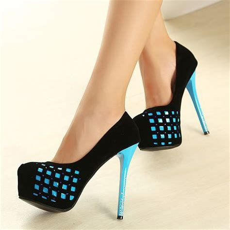 blue and black high heels black and blue platform high heels totally fabulous