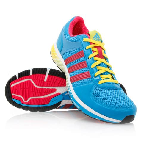 Adidas Running 10 adidas atlanta 10 womens running shoes blue pink yellow white sportitude