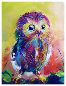 colorful owls colorful owl by much color for tess