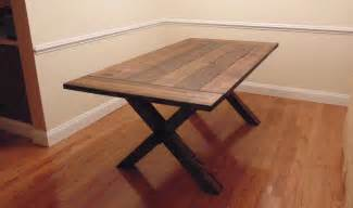 Crossed Leg Dining Table Custom Crossed Leg Trestle Style Farmhouse Table By Woodworks Custommade