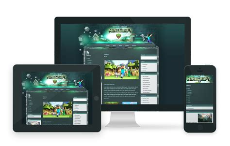 Minecraft Html Template Minecraft Website Template